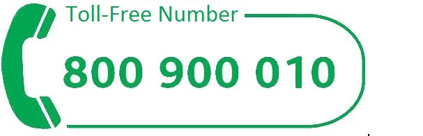toll-free number 800 900 010